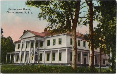 , Government House, Charlottetown, P.E.I. (0890), PEI Postcards