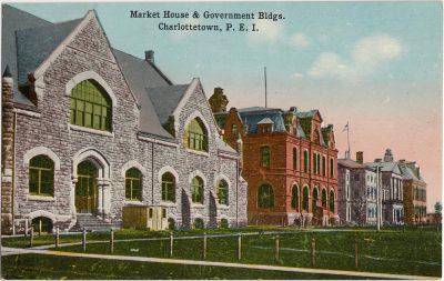 , Market House & Government Bldgs, Charlottetown, P.E.I. (0895), PEI Postcards