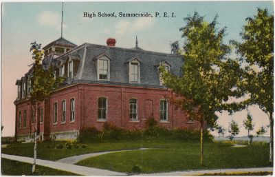 , High School, Summerside, P.E.I. (0898), PEI Postcards
