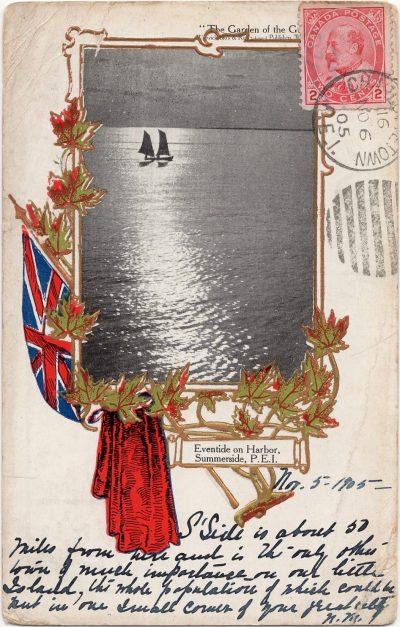 , Eventide on Harbor, Summerside, P.E.I. (0862), PEI Postcards
