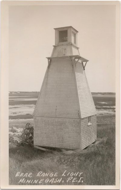 , Rear Range Light, Miminegash, P.E.I. (0863), PEI Postcards
