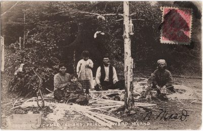 , Group of Mic Mac Indians, Prince Edward Island (0861), PEI Postcards