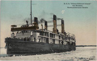 ", D.G.S. ""Prince Edward Island"" Ice Breaker, Northumberland Straits (0925), PEI Postcards"