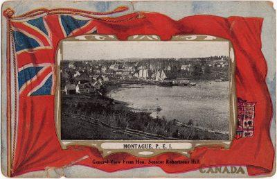 , General View from Hon. Senator Robertson's Hill. (0938), PEI Postcards