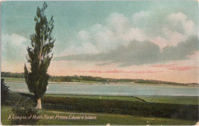 , A Glimpse of North River, Prince Edward Island (0926), PEI Postcards