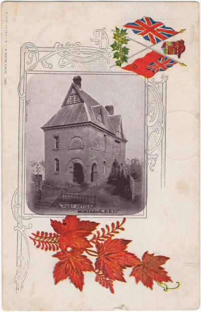 , Post Office, Montague, P.E.I. Copyrighted 1905. (0920), PEI Postcards