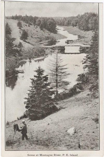 , Scene at Montague River, P.E. Island (0921), PEI Postcards