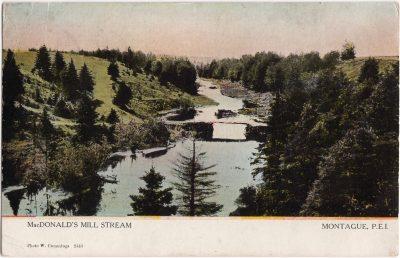 , MacDonald's Mill Stream, Montague, P.E.I. (0923), PEI Postcards