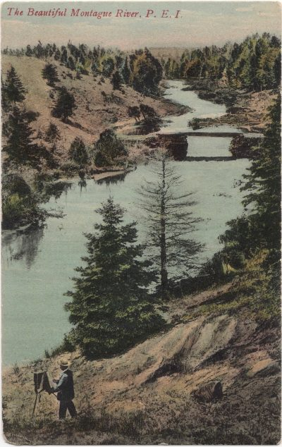 , The Beautiful Montague River, P.E.I. (0922), PEI Postcards
