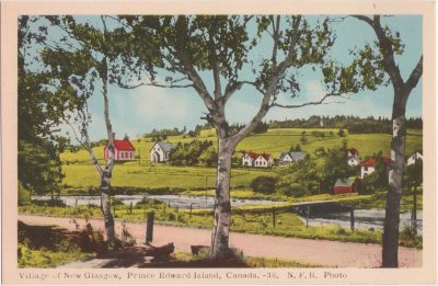 , Village of New Glasgow, Prince Edward Island, Canada. (0908), PEI Postcards