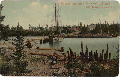 , Pinette Bridge, one of the Earliest Settlements on P.E.I. (0911), PEI Postcards