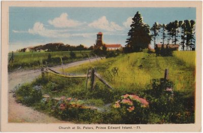 , Church at St. Peters, Prince Edward Island. (0970), PEI Postcards