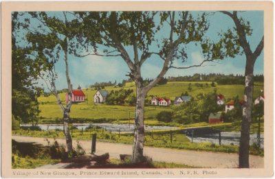 , Village of New Glasgow, Prince Edward Island, Canada. (0969), PEI Postcards