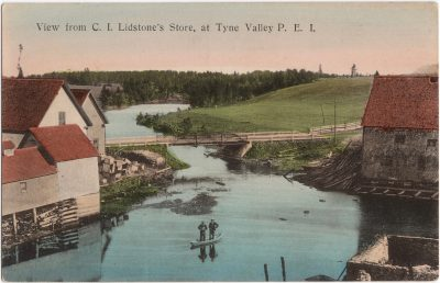 , View from C.I. Lidstone's Store, at Tyne Valley P.E.I. (0976), PEI Postcards