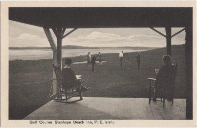 , Golf Course, Stanhope Beach Inn, P.E. Island (0958), PEI Postcards
