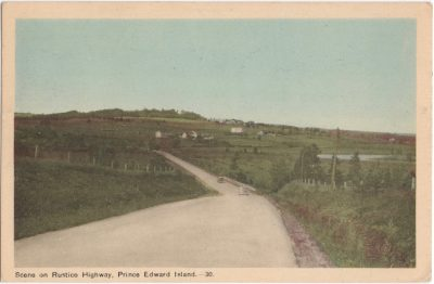 , Scene on Rustico Highway, Prince Edward Island (0954), PEI Postcards