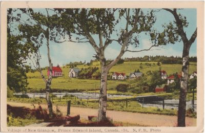 , Village of New Glasgow, Prince Edward Island, Canada. (0950), PEI Postcards