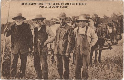 , Four generations of the Sillaker Family of Bedeque, Prince Edward Island (0944), PEI Postcards