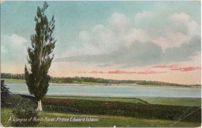 , A glimpse of North River, Prince Edward Island (0940), PEI Postcards