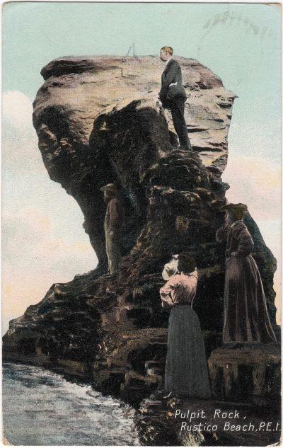 , Pulpit Rock, Rustico Beach, P.E.I. (0941), PEI Postcards