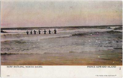 , Surf Bathing, North Shore, Prince Edward Island (0942), PEI Postcards