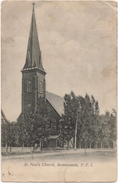 , St. Paul's Church, Summerside, P.E.I. (0039), PEI Postcards