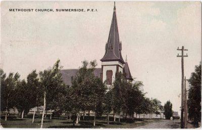 , Methodist Church, Summerside, P.E.I. (0042), PEI Postcards