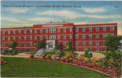 , Prince County Hospital, Summerside, Prince Edward Island (0048), PEI Postcards