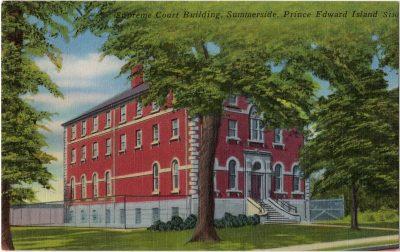 , Supreme Court Building, Summerside, Prince Edward Island (0057), PEI Postcards