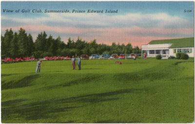 , View of Golf Club, Summerside, Prince Edward Island (0056), PEI Postcards