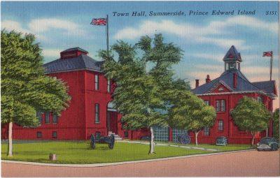 , Town Hall, Summerside, Prince Edward Island (0060), PEI Postcards