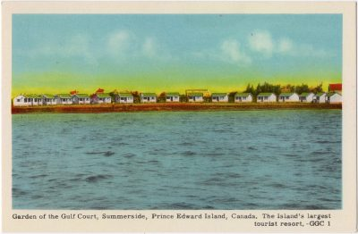 , Garden of the Gulf Court, Summerside, Prince Edward Island, Canada. The Island's largest tourist     resort. (0076), PEI Postcards