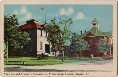 , Town Hall and Armoury, Summerside, Prince Edward Island, Canada (0072), PEI Postcards