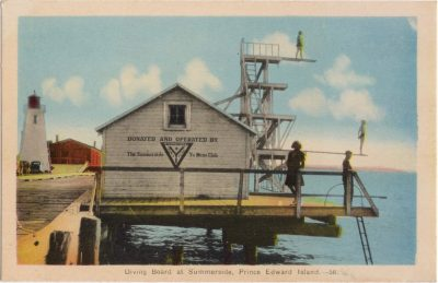 , Diving Board at Summerside, Prince Edward Island (0085), PEI Postcards