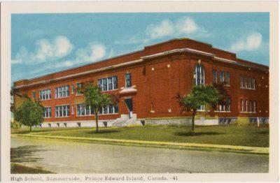 , High School, Summerside, Prince Edward Island, Canada. (0084), PEI Postcards