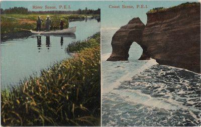 , River Scene, P.E.I. Coast Scene, P.E.I. (0088), PEI Postcards