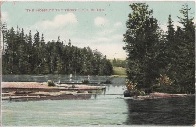 """, """"The home of the Trout"""" P.E. Island (0089), PEI Postcards"""
