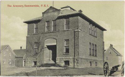 , The Armoury, Summerside, P.E.I. (0087), PEI Postcards