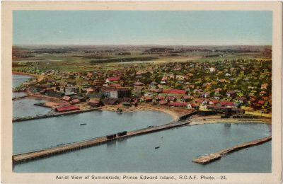 , Aerial View of Summerside, Prince Edward Island, R.C.A.F. Photo (0077), PEI Postcards