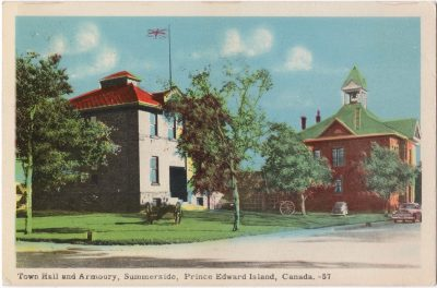 , Town Hall and Armoury, Summerside, Prince Edward Island, Canada (0063), PEI Postcards