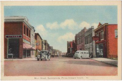 , Main Street, Summerside, Prince Edward Island (0064), PEI Postcards