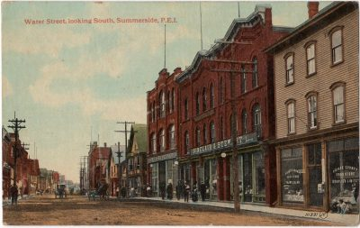 , Water Street, looking South, Summerside, P.E.I. (0062), PEI Postcards