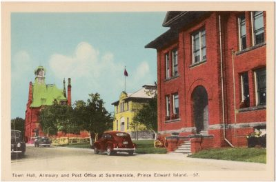 , Town Hall, Armoury and Post Office at Summerside, Prince Edward Island (0055), PEI Postcards