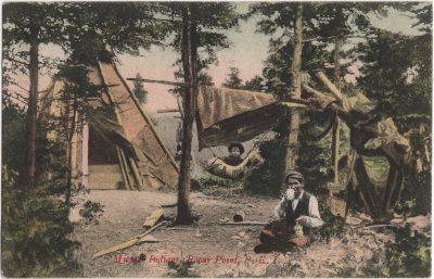 , Micmac Indians, Rocky Point, P.E.I. (0105), PEI Postcards