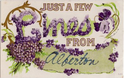 , Just a few lines from Alberton. (0101), PEI Postcards