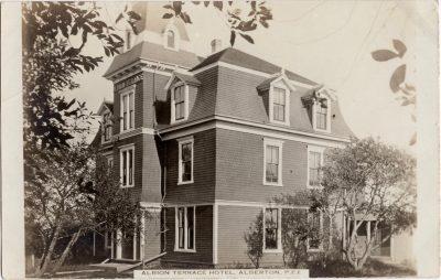 , Albion Terrace Hotel, Alberton, P.E.I. (0099), PEI Postcards