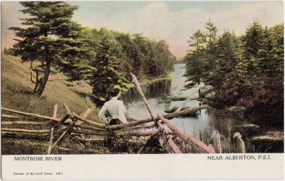 , Montrose River Near Alberton, P.E.I. (0091), PEI Postcards