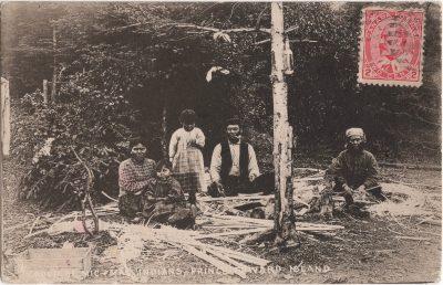 , Group of Mic Mac Indians, Prince Edward Island (0109), PEI Postcards