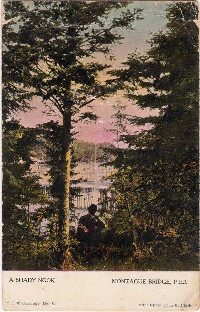 , A Shady Nook Montague Bridge, P.E.I. (0992), PEI Postcards