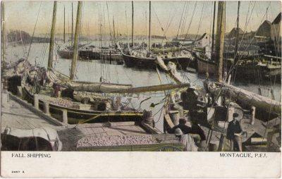 , Fall Shipping Montague, P.E.I. (0996), PEI Postcards